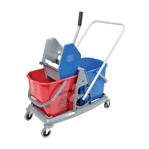 Ezy Twin Bucket With Downpress Wringer Mop Buckets