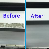 Glue Mark on Aluminium