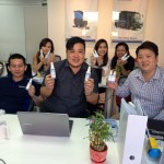 Sales team with Sani-Safe disinfectants