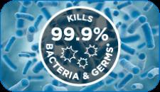 Kills 99.9% Bacteria